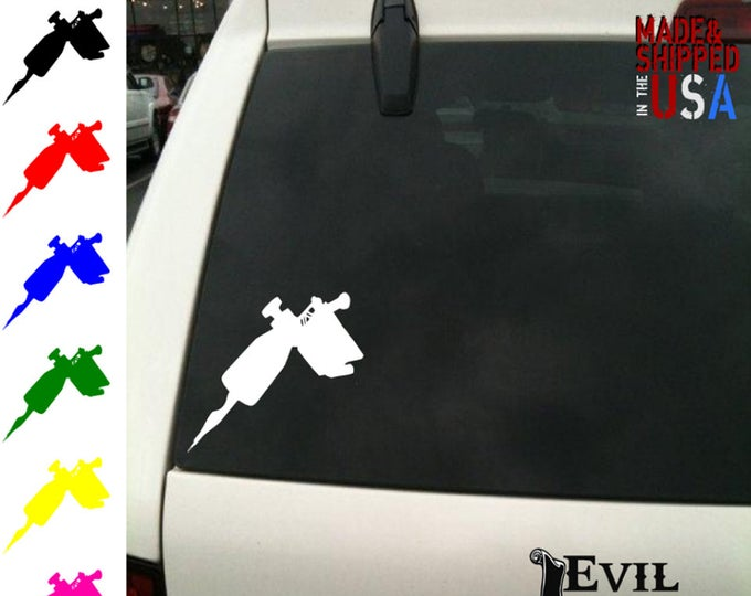 Tattoo Gun Decal Sticker