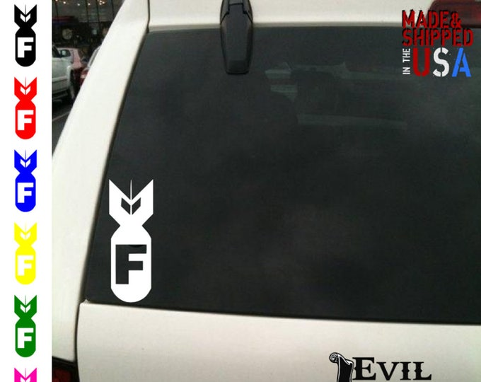 F Bomb Decal Sticker