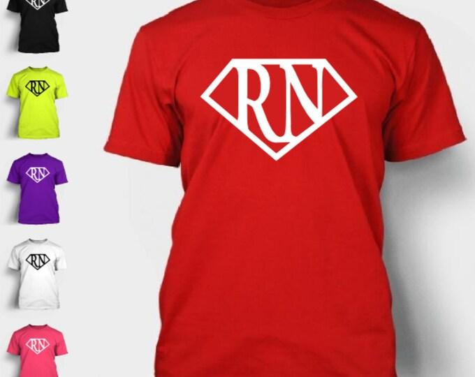Nurse Superhero T-Shirt RN Pride Emt Lpn Medic Love Superman Logo TShirt Tee Shirt Neon FREE SHIPPING