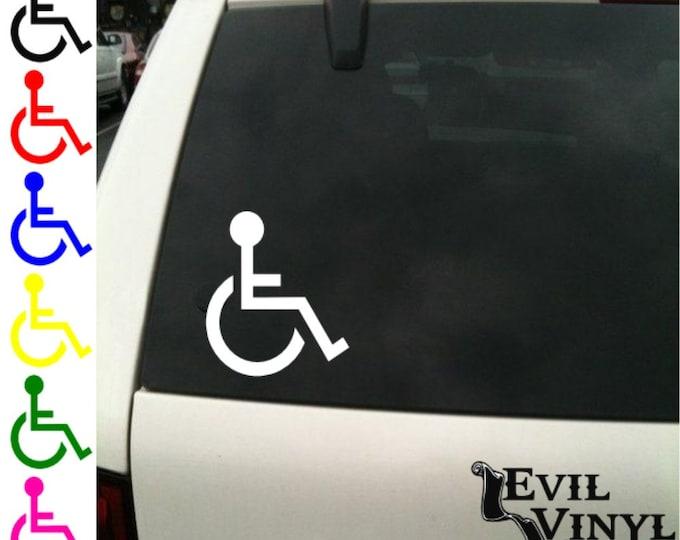 Handicap Symbol Vinyl Car Window Decal Van Truck Disabled Sign Disabilities Logo Pride Wheelchair iPhone Samsung Case Sticker ANY SIZE