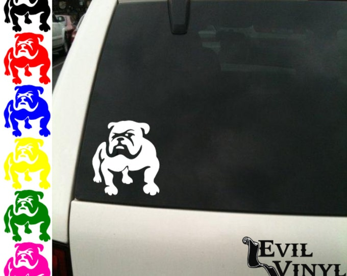 Bulldog Decal Vinyl Car Window Dog Puppy Paw English French Adopt Pet Art for iPhone Samsung Case Laptop Sticker ANY SIZE