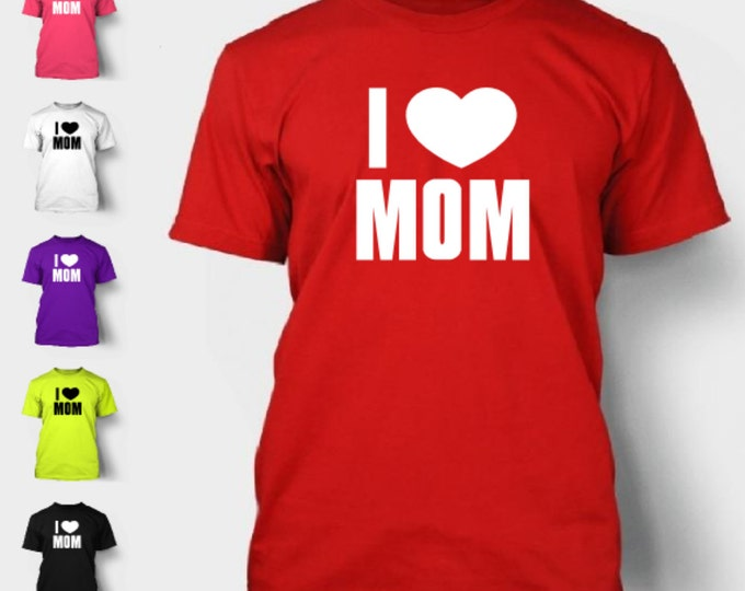 I Heart Mom T-Shirt Funny Love Mothers Valentines Day Hip Nerd Tee Shirt TShirt Neon FREE SHIPPING