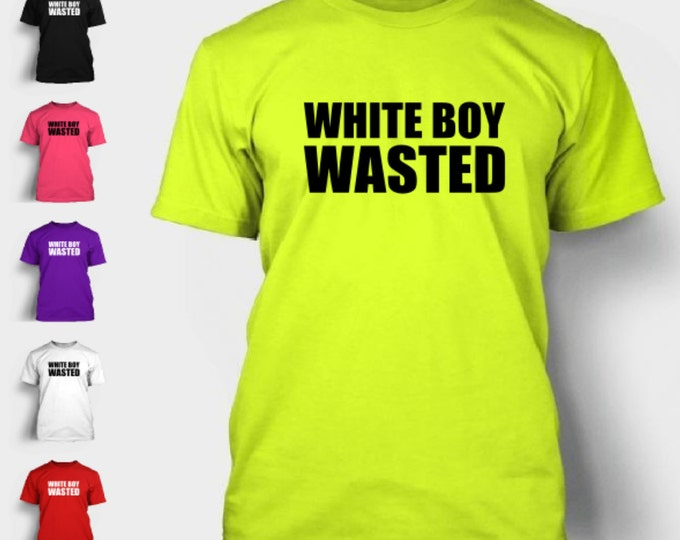 White Boy Wasted T-Shirt Funny Drinking Drunk Beer Alcohol Guy Girl Birthday Frat College Pbr Merica Party Tshirt Shirt Neon FREE SHIPPING