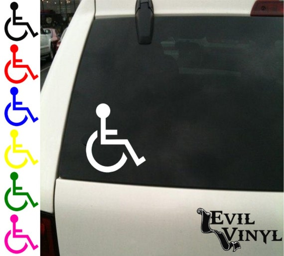 Handicap symbol vinyl car window decal van truck disabled sign