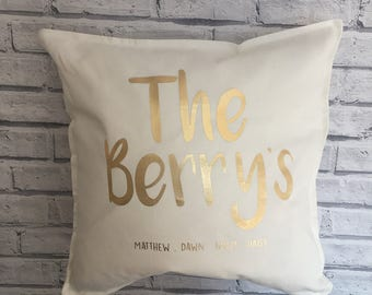 Personalised Family Cushion Cover. Family name cushion cover. Personalised  cushion cover. Mother s Day gift. Birthday gift. a8c00243e