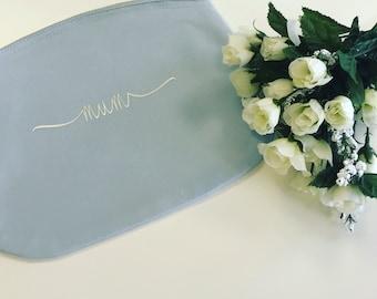 Personalised Cosmentics Bag, personalised Bride bag Personalised Bridesmaid Bag. Make up bag.