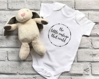 The embryo the could baby onesie. IVF baby vest. Personalised baby onesie. Personalised baby vest. IVF Onesies. Miracle baby. Baby shower.
