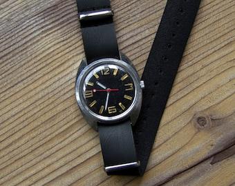 "Soviet watch ""Wostok"", Russian watch, Vintage Watch, Mens watch , classic watch, Black Watch"