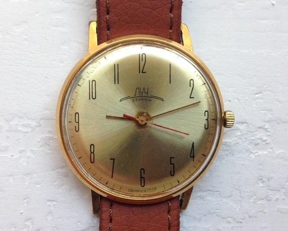"""Soviet watch - """"Luch"""" , Slim Watch - 8mm thickness"""
