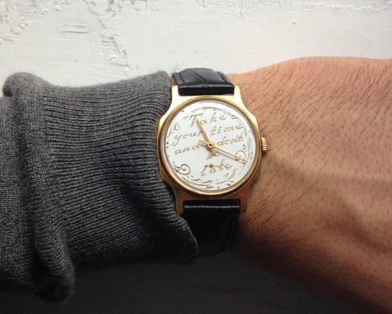 Engravable watch, Personalized watch ,Soviet watch