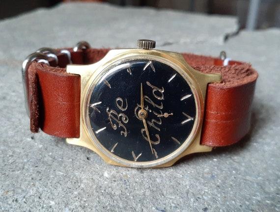 "Engraved watch ""Pobeda"", Soviet watch,Personalized"