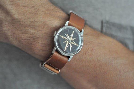 "Engraved watch ,Soviet watch ""Pobeda"", Russian wat"