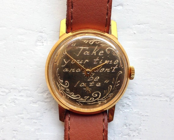 "Soviet watch ""Pobeda"",Personalized watch ,Vintage"