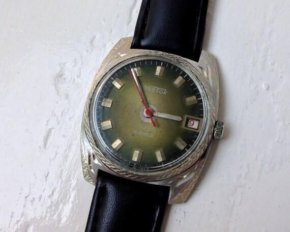 """Soviet watch """"Vostok"""", Engraved watch, Mens Watch,"""