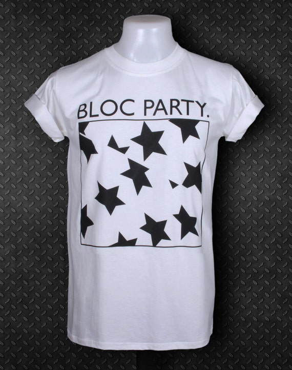 ec32d8af6722 Items similar to Bloc Party Intimacy Alternative Rock Band White T-shirt  White T-shirt Size S on Etsy