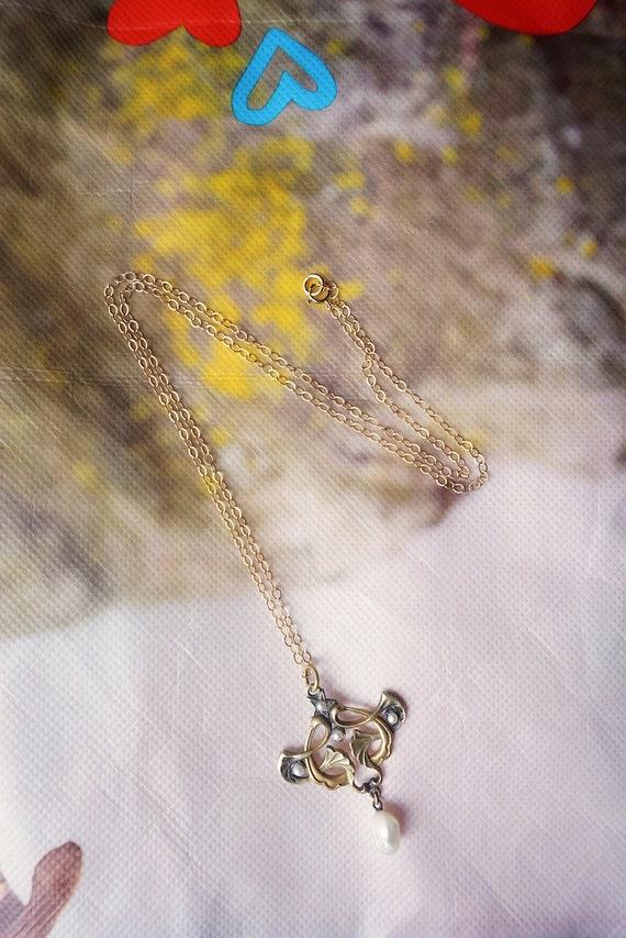 Art Nouveau Pearl Necklace