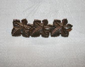 Swedish Sterling Leaf Brooch