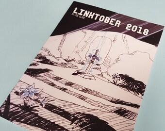 Zelda Breath of the Wild Linktober 2018 Art book Zine