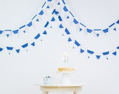 "Linen  flags garland ""Striped Fest"" READY FOR DISPATCH!"