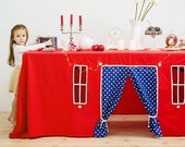 Table play house, playhouse, tablecloth play house, play tent, indoor playhouse, card table playhouse, birthday table decorations