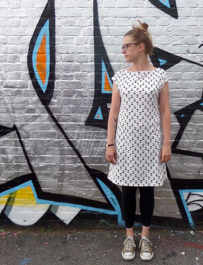 The Walkley straight neck vest dress DIGITAL sewing pattern  f08ef607b
