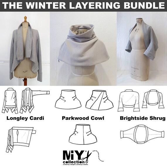 MIY Collection Winter Layering PDF Pattern Bundle  875ea59ba