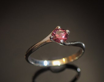 Mesmerizing Red Spinel Ring Gold Spinel Ring Mogok Spinel Engagement Ring Natural Spinel Crimson Red Spinel