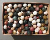Marbles Agate And Or Jasper 6 Of 5 8 Inch to 3 4 Inch Natural Gemstones Vintage