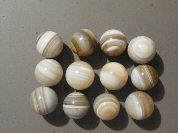 Banded Agate Marble Bulls Eye One Of One to 1 1//8 Inch  Natural Gemstone Vintage