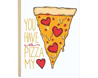Vous avez une Pizza ma carte de coeur