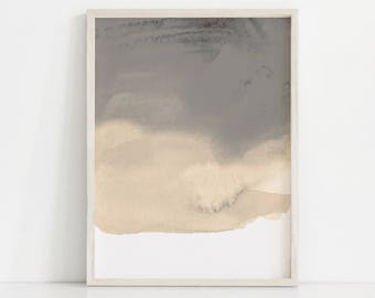 Abstract Sepia Print. Sepia Tone Art. Watercolor Print. Neutral Art Print. Minimal Watercolor Art. Brown Wall Art. Tan Art. Simple Wall Art