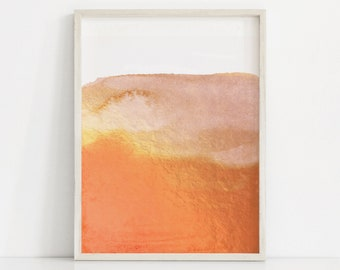 Orange Art Print, Yellow Orange and White Art, Abstract Orange Painting, Abstract Prints, Bright Orange Print, Orange Wall Art, Modern Art