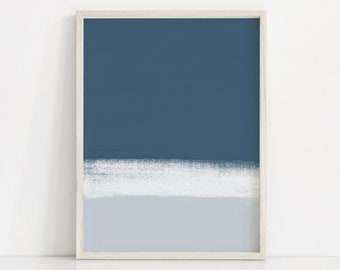 e3701cf3871 Abstract Blue and White Art Print. Blue Painting. Simple Blue Prints. Dark  Blue and White Print. Light Blue Art Print. Modern Blue Wall Art
