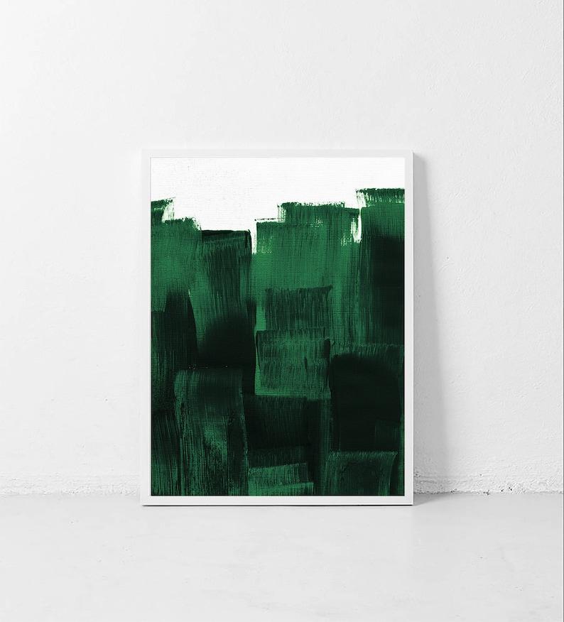 Forêt Verte Impression Décor Vert Foncé Peinture Vert Etsy