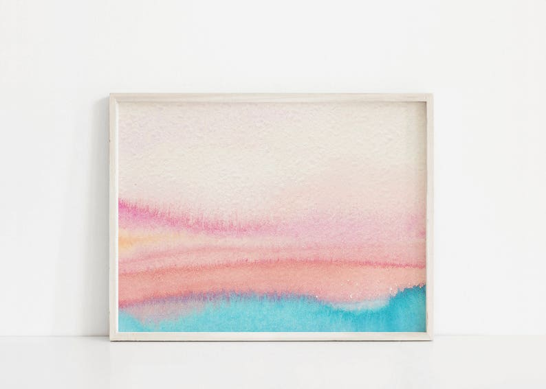 81c87605ac7 Pink Blue Watercolor Gradient Millennial Pink Print Blush