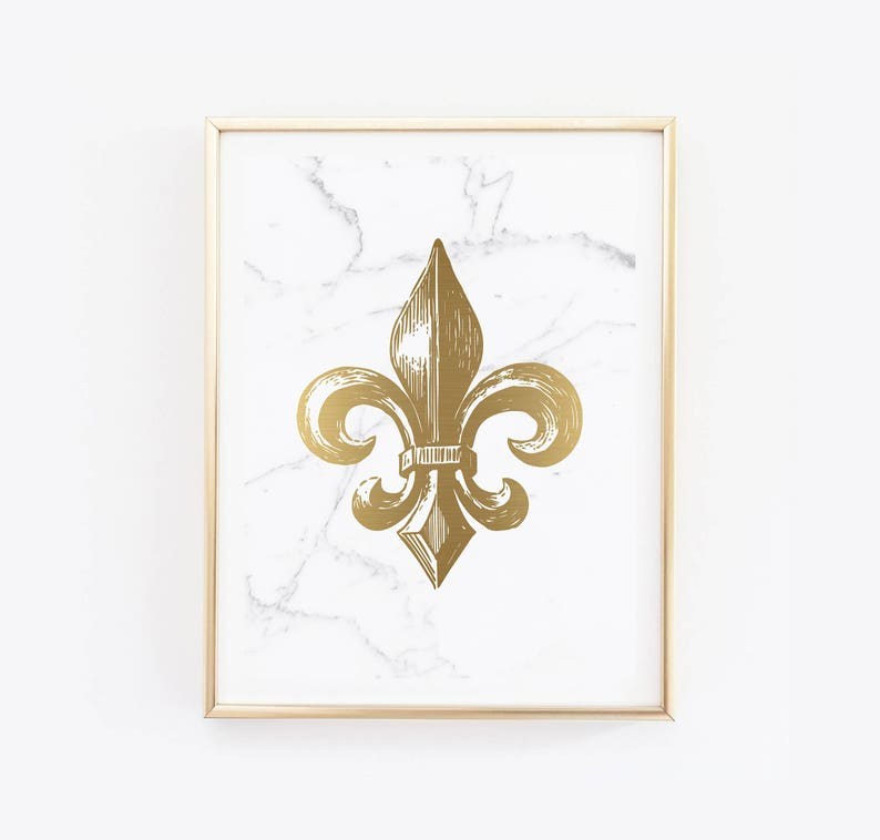 image relating to Fleur De Lis Printable named Printable Gold Fleur De Lis Print Contemporary Orleans Artwork Louisiana Print Refreshing Orleans Print Gold Print Louisiana Artwork Saints Gold Artwork