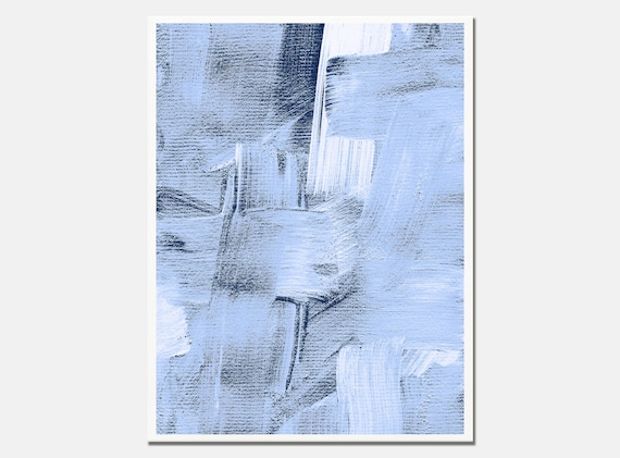 Abstract Blue Print. Light Blue Painting. Blue Abstract   Etsy