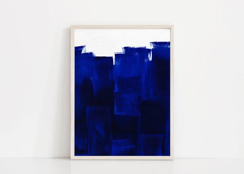 Large Printable Blue Painting Oversized Blue Print Big Etsy