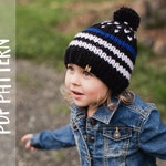 KNITTING PATTERN | Thin Blue Line Hat | Stars and Stripes | In Memory of Nick Clark | Chunky Beanie | Children's Hat | Adult Hat |