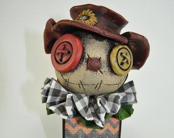 Scarecrow Blockhead - black & green check
