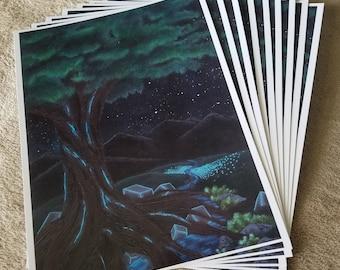 Sci-fi fantasy landscape prints 8.5x11in semi-gloss