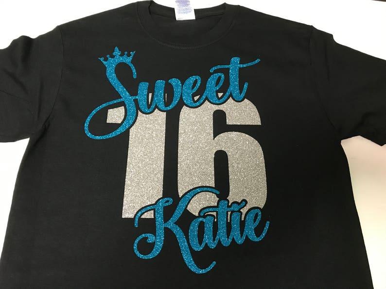 649b6b86b SWEET 16 SHIRT. Sweet Sixteen Shirt. Sweet 16 Tshirt. Birthday | Etsy