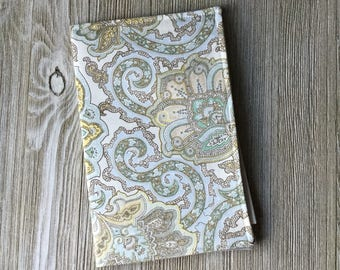 Campaign Tract Holder, Invitation Holder, Small Book Pouch, Pouch Style in a Soft Paisley Print - Ready to Ship