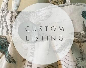 Custom Service Folder for Karina in Yellow Bird Fabric