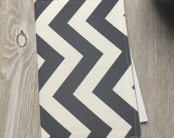 Invitation Holder, Campaign Tract Holder, Pouch Style in Navy Blue Chevron - Ready to Ship