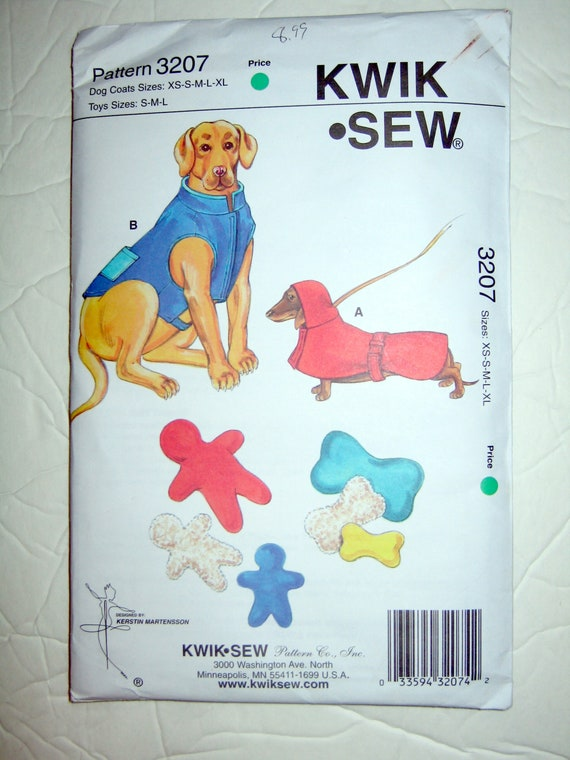 Vintage Dog Coat Patterns - Kwik 3207 and Kwik 2879