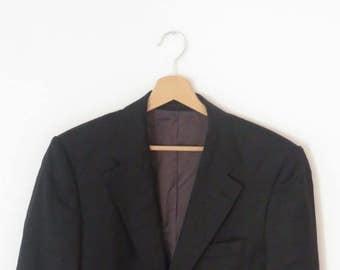 f83af9e71 HUGO BOSS Fabulous Dark Grey Silk & Virgin Wool Blazer Jacket, sz. 50