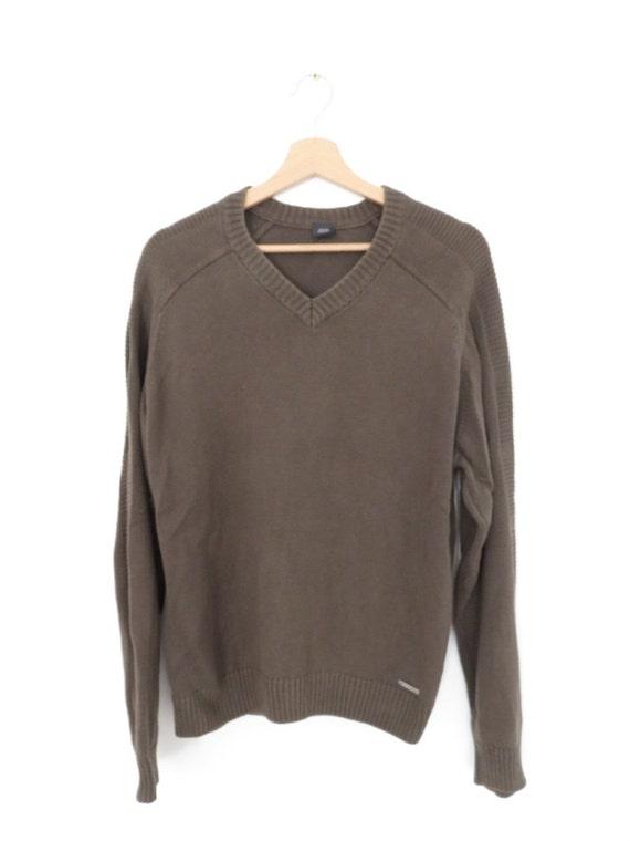 JOOP Vintage V neck Sweater Jumper, sz. 50