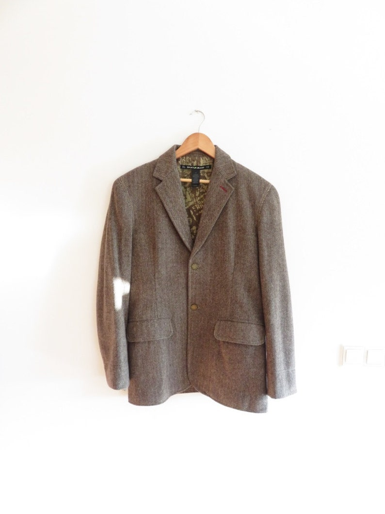 official photos 18a5c 1ac2e DKNY Vintage Donna Karan New York Jeans Wool Mix Blazer Jacket, sz. M