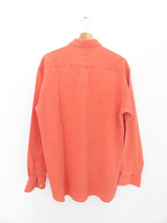 AGNEAUX meilleurs shirtmakers shirtmakers meilleurs chemise vintage 100 % coton léger orange taille 39-40, L/XL d8dc57